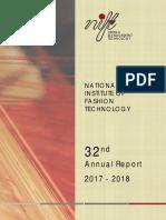 NIFT Anual Report 2017 18 Eng