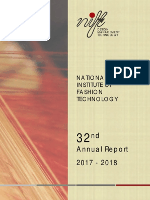 NIFT Anual Report 2017 18 Eng | Curriculum | Fashion