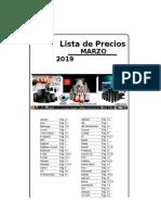 Lista de Precios MARZO 2019 M