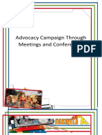 Advocacy Campaign Through Meetings
