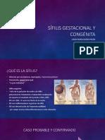 Sífilis Gestacional y Congénita
