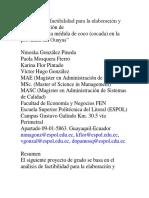 Proyecto de Factibilidad Para La Elaboración COCO