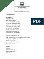 Planes de Area Matematicas 2018