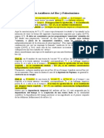 Resumen de Definiciones de Grünbaum sobre hipótesis Ad Hoc