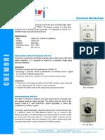 CHEMORI 9819CR Control Switches Rev 2
