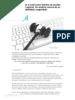 Doctrina_ Los E-mail Como Fuentes de Prueba en El Proceso Judicial
