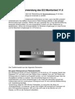 Anleitung Zur Verwendung Des ECI Monitortest V1.0