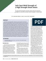 2017_03 QuasiStatic Spot Weld Strength of advanced high-strength sheet steels