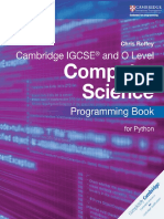 Cambridge IGCSE Computer Science Programming Book for Python