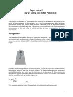 Kater's reversible pendulum experiment
