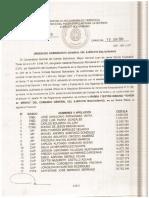 Barra Insignia Honor Al Mérito Del Comando General Del Ejército