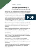 John Morgan found favorable among FL voters, Scott's ratings increase post Irma | Sep 2017