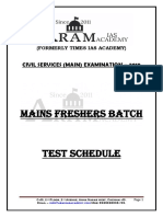 Test Schedule For Mains Freshers Batch.pdf