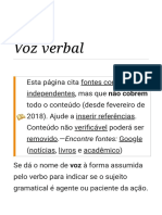 Voz Verbal – Wikipédia, A Enciclopédia Livre