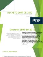 Decreto 2609 de 2012