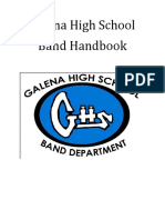 galena high school band handbook 2019-20