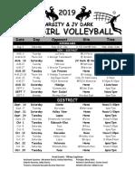 porter volleyball 2019 schedule varsity final