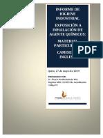 Informe de Higiene Industrial Material Particulado
