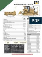 Especificaciones Tecnicas Tractor d6t -Julio 2019