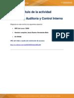 Formato Para Entrega de Trabajo Cartilla de Auditorìa y Control Interno