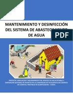Manual de Mantenimiento y Desinfección Del Sistema de Abastecimiento de Agua