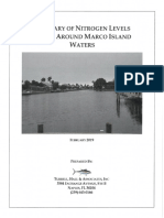 Summary of Nitrogen Levels in and around Marco Island Waters (2019) - City of Marco Island