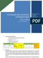 Módulo II. Posgrado en Docencia Universitaria MsC. Erick Castillo 2019
