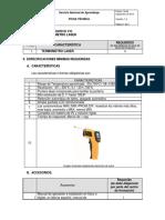 Ficha Tecnica Termometro Laser Laboratorio