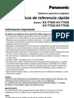 Telefono Recep Manual_kx-t7630