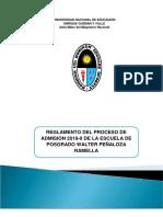 Reglamento Admision Une Posgrado 2019 II