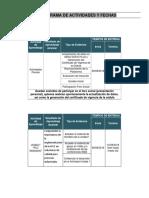 Cronograma Actividades PLC-SCADA