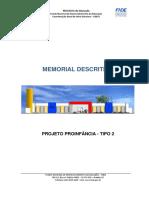 Memorial descritivo  projetos  top  orçamento