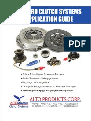 Alto 91729 Standard Clutch Kit