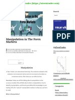 Manipulation in Forex _ a Teen Trader