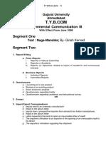 BCom_Third Year (External) Annual Pattern