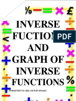 INVERSE FUNCTION AND GRAPH OF INVERSE FUNCTION