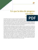 Filosofía UBA 21 Unidad 3. Lo Que La Idea de Progreso Nos Dejó (Campus)