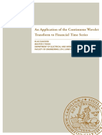 An Application of the Continuous Wavelet Transform to Financial Time Series