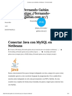 Conectar Java Con MySQL en Netbeans – Fernando Gaitán
