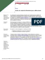 Ejemplo de Cuadro de Control de Shewhart Para Calibraciones en Masa