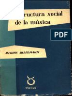 Alphons Silbermann - Estructura Social de La Música.