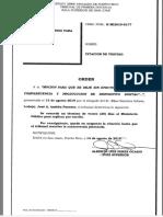 Órdenes del tribunal sobre citación de testigos Elías Sánchez y Edwin Miranda