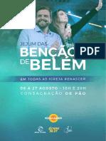 CARTILHA JEJUM BENÇÃOS DE BELÉM