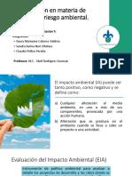Legislación en Materia de Impacto y Riesgo Ambiental
