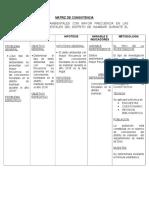 Matriz de Consistencia - Proyecto Ambiental II