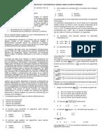 Prueba Sabercuarto Periodo Matemáticas y Estadística Once