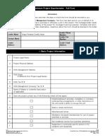 Condo Questionnaire