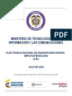 Plan Tecnico AM 2018 Colombia