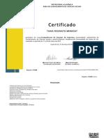 certificado assessoria
