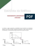 Exercícios de Gráficos - Colégio Santos Anjos – Juiz de Fora